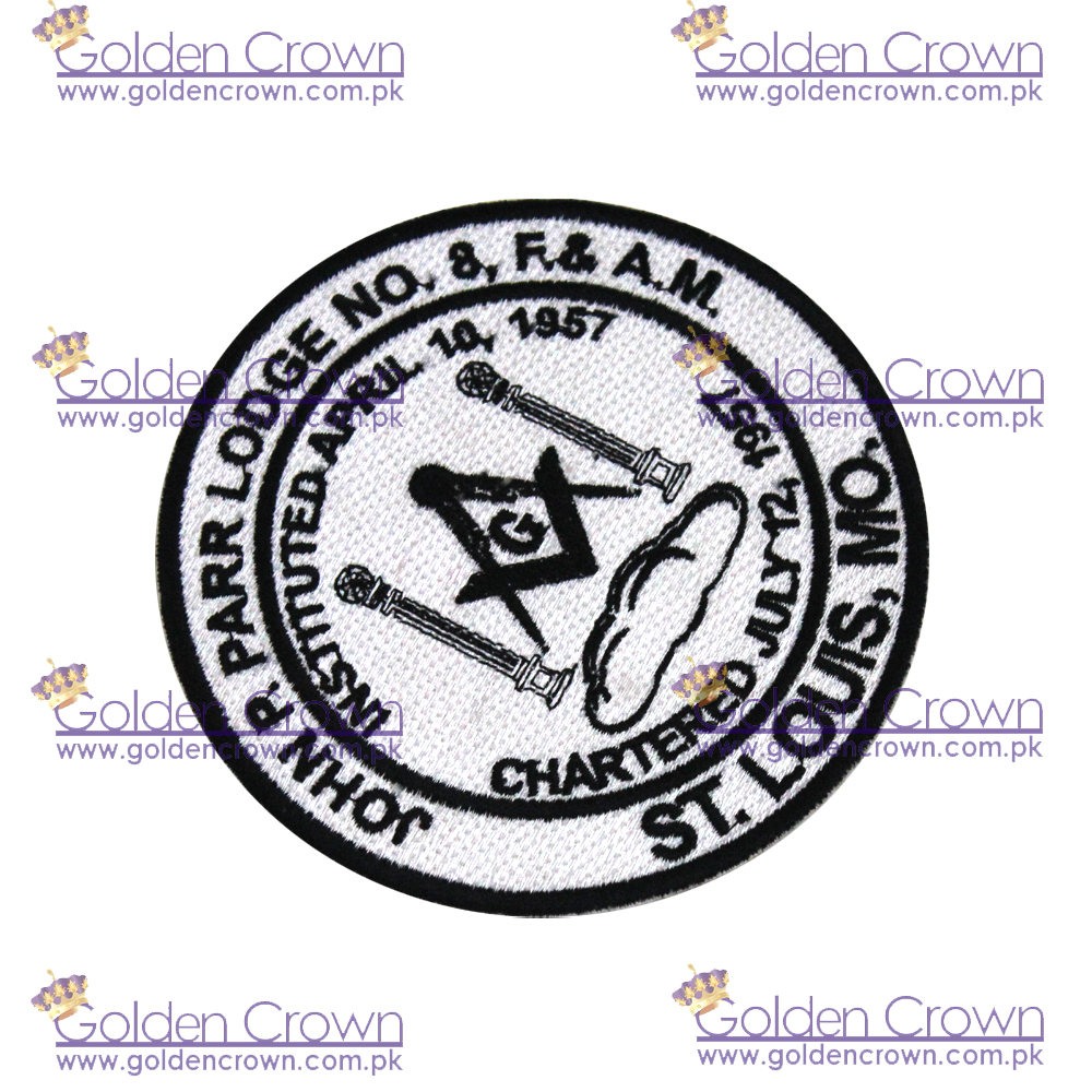 Masonic Embroidered Patches,Woven Cloth Badges, Woven