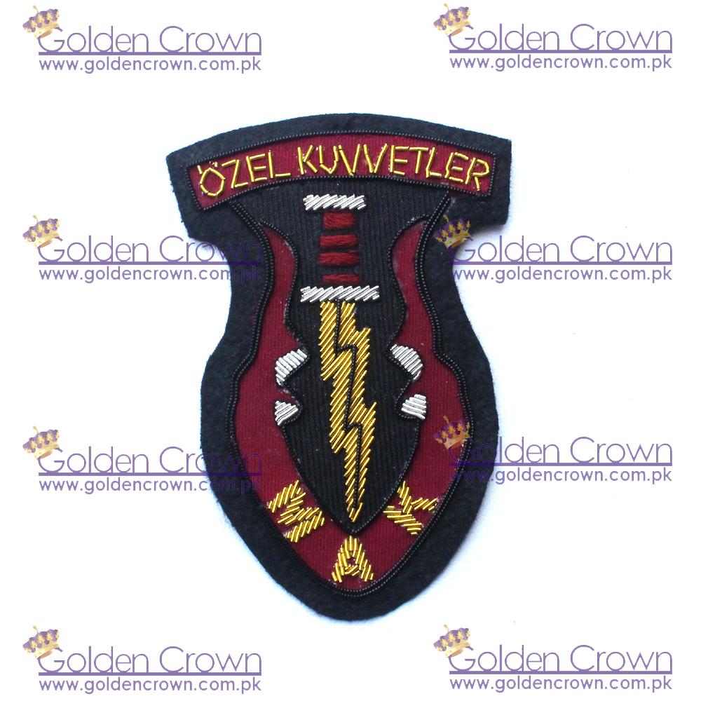 Blazer Bullion Badge,Hand Embroidered Badge,Handmade Bullion