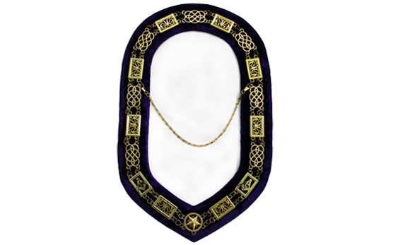 Masonic Regalia Grand Lodge Chain Collar golden Plated