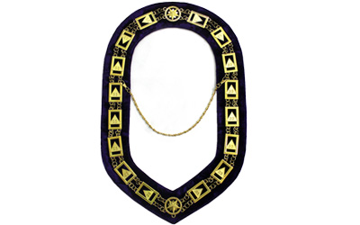 Masonic 33 Degree Chain Collar Golden Plated