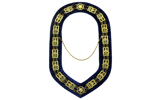 Masonic Regalia Past Master Chain Collar Gold Plated Chain Collar