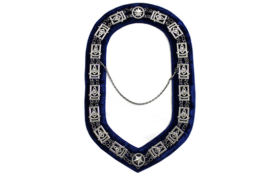 Masonic Regalia Past Master Chain Collar Silver Plated