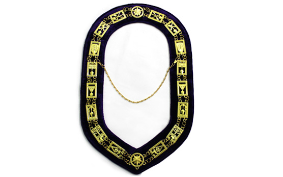 Cryptic Mason Royal & Select Chain Collar Golden Metal