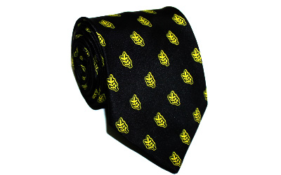 Acacia Leaf Design Masonic Tie