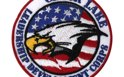 American Machine Embroidered Badge Eagle