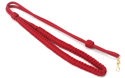 British Army Whistle Lanyard Red