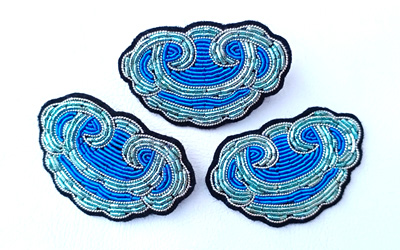 Brooch Handmade Bullion Embroidery Supplier