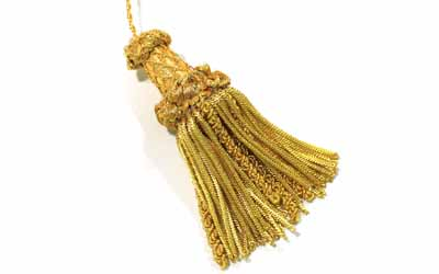 Bullion Tassel Gold Metallic Thread and Viscose