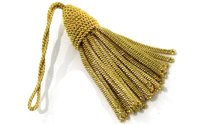 Vintage Gold Bullion Metallic Tassel