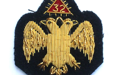 32 Degree Bullion Wire Badge