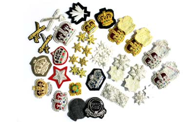 Bullion Wire Crowns And Stars Badges Suppliers