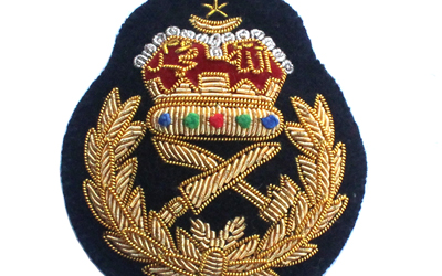 Army Officers Bullion Wire Cap Badge