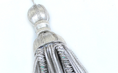 Silver Bullion Wire Decoration Tassel