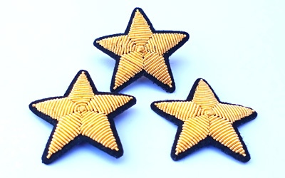 Bullion Wire Embroidery Star Brooch