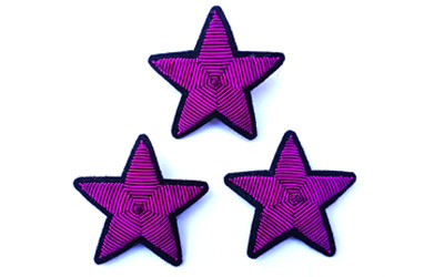 Wholesale Bullion Wire Star Brooch