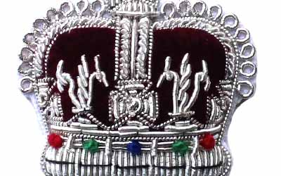 Silver Crown Bullion Badges