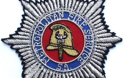 SA Metropolitan Fire Service Bullion Wire Badge