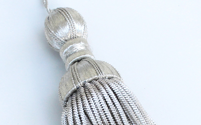 Decoration Silver Bullion Tassel