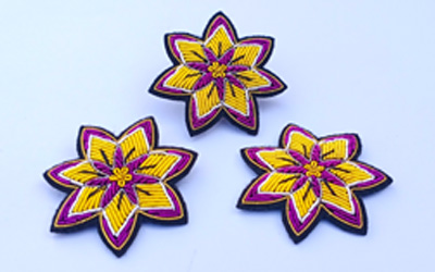 Embroidery Bullion Brooch