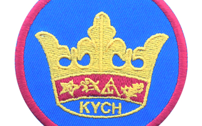 Machine Embroidery Crown Badges