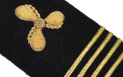 Engineer Shoulder Boards Epaulets Gold Propeller Four Bar Hardboards