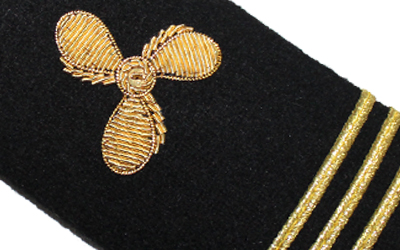 Engineer Shoulder Boards Epaulets Gold Propeller Three Bar Hardboards