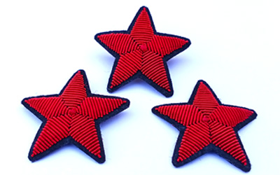 Fashion Accessories Bullion Wire Star Brooch