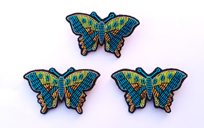 Fashion Brooches Butterfly Bullion Embroidery