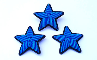 Fashion Handmade Embroidery Star Brooch Supplier
