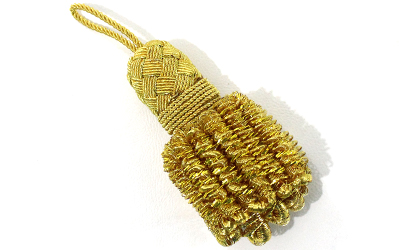 French Gold Bullion Tassel Small Fringes