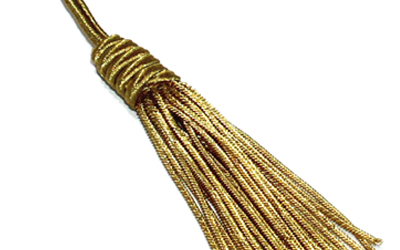 Gold Bullion Fringe French Decorative Tassels Customized Gold Bullion Tassel For Sale