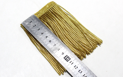 Golden Bullion Wire Fringe