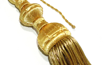 Customized Gold Bullion Tassel For Sale Gold Bullion Metallic Tassels