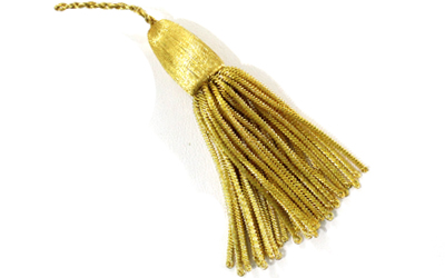 Antique French Gold Metallic Bullion Tassel