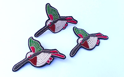 Hand Bullion Wire Embroidery Badge for Brooch