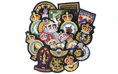 Hand Embroidered Bullion Badges Supplier