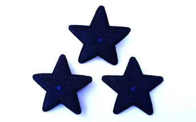 Hand Embroidery Bullion Star Brooch