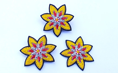 Fashion Creative Bullion Wire Handmade Embroidery Brooches