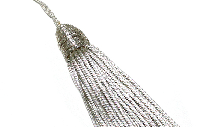 Hot Sale Silver Bullion Tassel For Uniform Silver Bullion Metallic Tassels