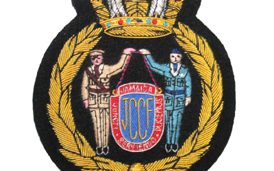 America Jamaica Bullion Wire Badge