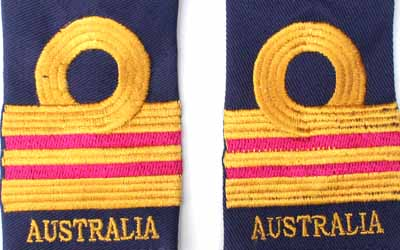Royal Australian Navy Lieutenant Commander Slip On Epaulette