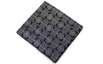 Malaysia Sampin Songket fabric Black and Silver