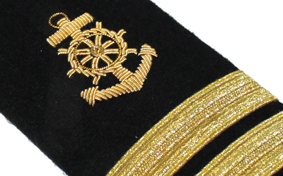 Marine Anchor 2 Bar American Navy Shoulder Boards Epaulets