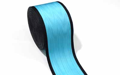 Masonic Moire Ribbon Black And Sky Blue