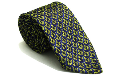 Masonic Regalia Tie with Gold Square and Compass