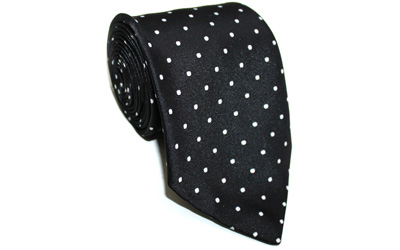 Masonic silk Rose Croix polka dot Tie with Logo