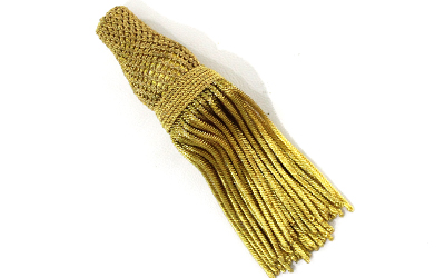 French Gold Metallic Bullion Tassels