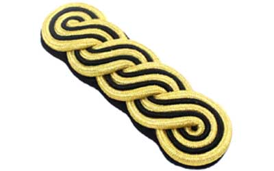 Military Shoulder Board Gold And Black