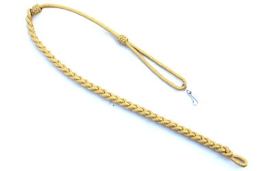 Military Whistle Lanyard Gold Mylar