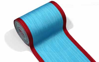 Masonic Moire Ribbon red And Sky Blue